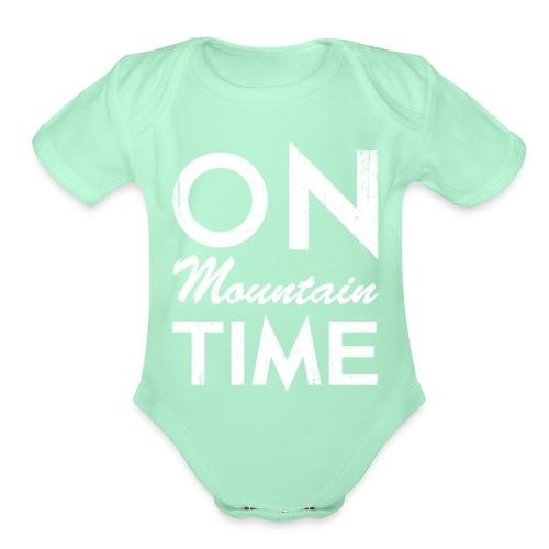 On Mountain Time - Organic Short Sleeve Baby Bodysuit