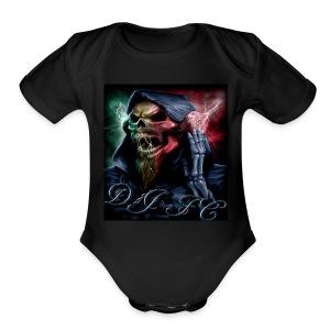 Dj fc blue - Short Sleeve Baby Bodysuit