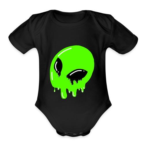 Too hot for ya? - Organic Short Sleeve Baby Bodysuit