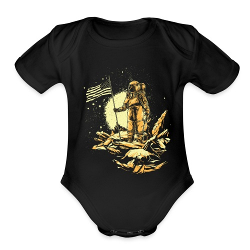 Astronaut fashion - Organic Short Sleeve Baby Bodysuit