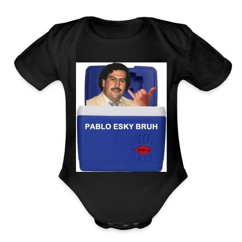 Pablo Esky Bruh - Organic Short Sleeve Baby Bodysuit