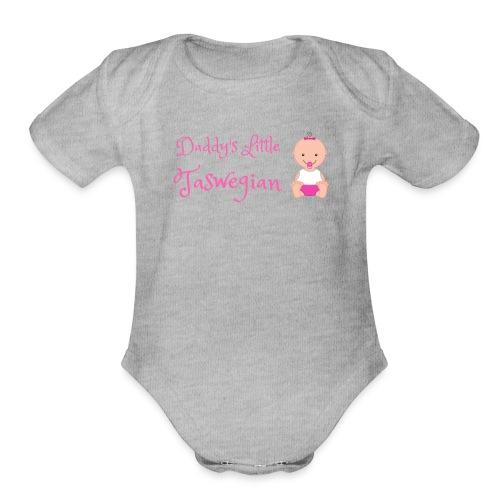 Daddys Little Taswegian Girls - Organic Short Sleeve Baby Bodysuit