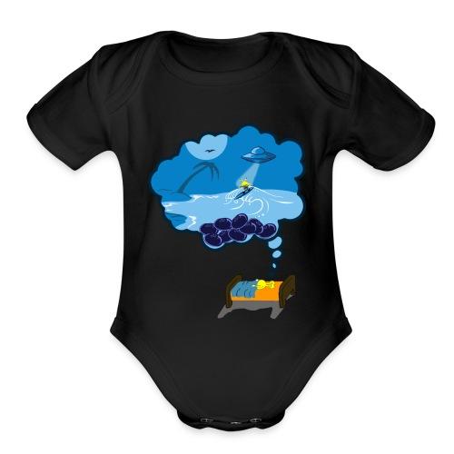 Strainge - Blue Dream Marijuana Strain shirt - Organic Short Sleeve Baby Bodysuit
