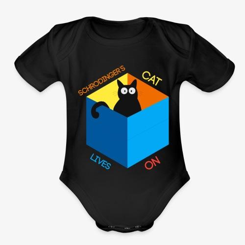 Schrodinger's Cat Lives - Organic Short Sleeve Baby Bodysuit
