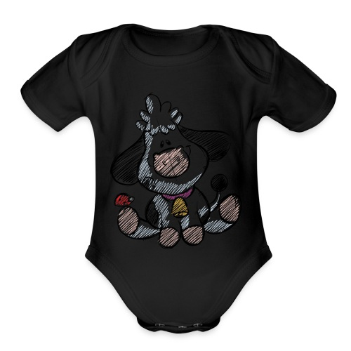 cow funny love animals and pets - Organic Short Sleeve Baby Bodysuit