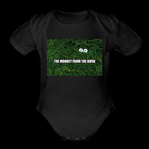monkeybushbanner - Organic Short Sleeve Baby Bodysuit