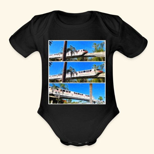 monorail - Organic Short Sleeve Baby Bodysuit