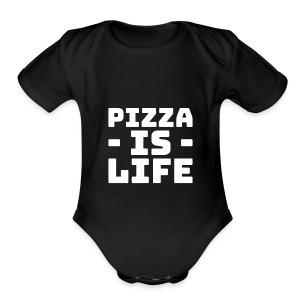 Pizza is life - Short Sleeve Baby Bodysuit