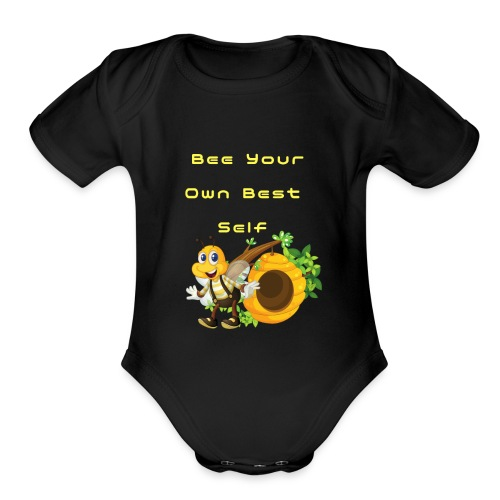 Bee Your Own Best Self - Organic Short Sleeve Baby Bodysuit