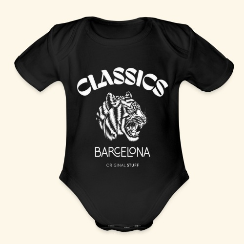 tiger classic barcelona original stuff - Organic Short Sleeve Baby Bodysuit