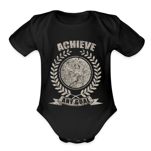 Achieve Any Goal Soccer Design - Organic Short Sleeve Baby Bodysuit