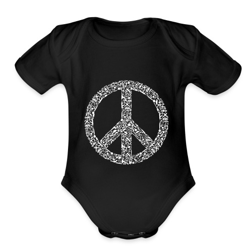 War Peace - Organic Short Sleeve Baby Bodysuit