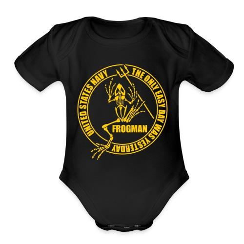 Seal Frog - Organic Short Sleeve Baby Bodysuit