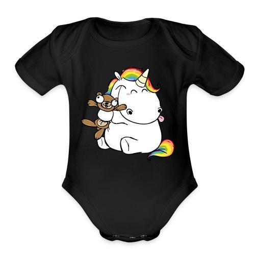 Happy Unicorn - Organic Short Sleeve Baby Bodysuit