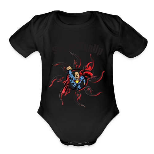SuperManUP - Organic Short Sleeve Baby Bodysuit