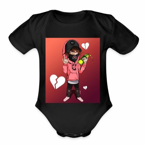 Lil Man - Organic Short Sleeve Baby Bodysuit
