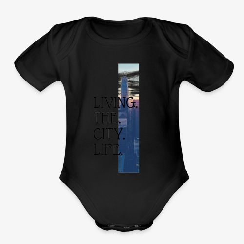 City Life - Organic Short Sleeve Baby Bodysuit