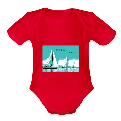 Beautiful Croatia - Organic Short Sleeve Baby Bodysuit