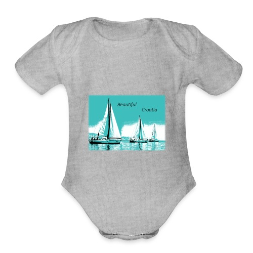 Beautiful Croatia - Organic Short Sleeve Baby Bodysuit