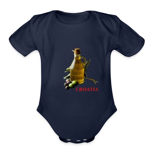 Croatian Gourmet 2 - Organic Short Sleeve Baby Bodysuit