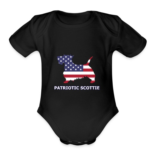 American Scottie - Organic Short Sleeve Baby Bodysuit