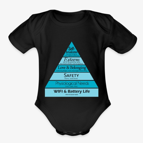 Maslow's Hierarchy - Organic Short Sleeve Baby Bodysuit