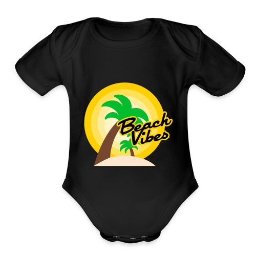 Beach vibes t-shirt summer - Organic Short Sleeve Baby Bodysuit