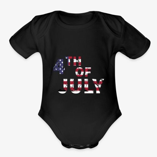 4TH of July - Organic Short Sleeve Baby Bodysuit