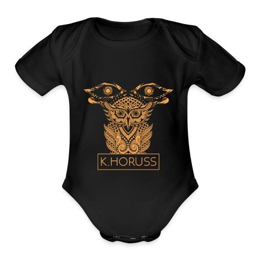 K.horuss Emblem - Organic Short Sleeve Baby Bodysuit