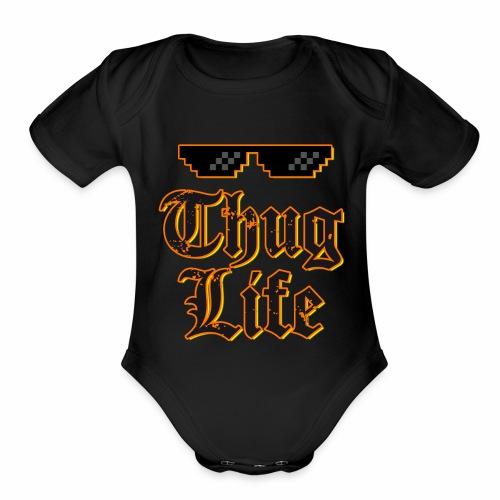 Thug life t-shirt - Organic Short Sleeve Baby Bodysuit