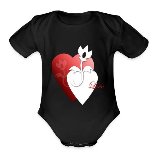 love - Organic Short Sleeve Baby Bodysuit