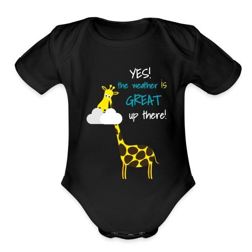 Funny Giraffe T-shirt for men women kids - Organic Short Sleeve Baby Bodysuit