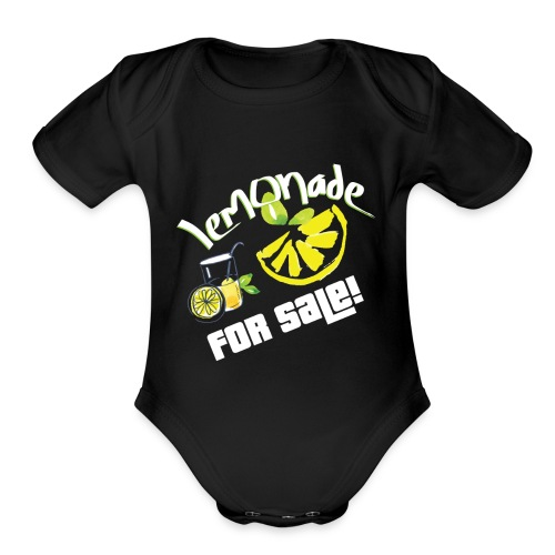 Lemonade For Sale Stand Funny Summer Beverage Gift - Organic Short Sleeve Baby Bodysuit