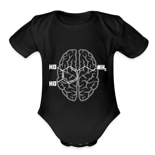 Dopamine Molecule for Science Nerds - Organic Short Sleeve Baby Bodysuit