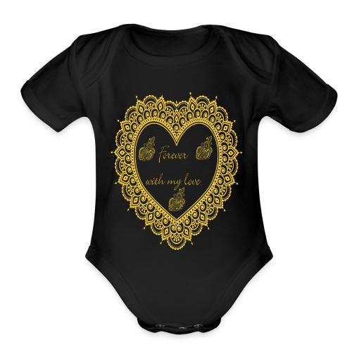 Forever with love T-Shirt - Organic Short Sleeve Baby Bodysuit
