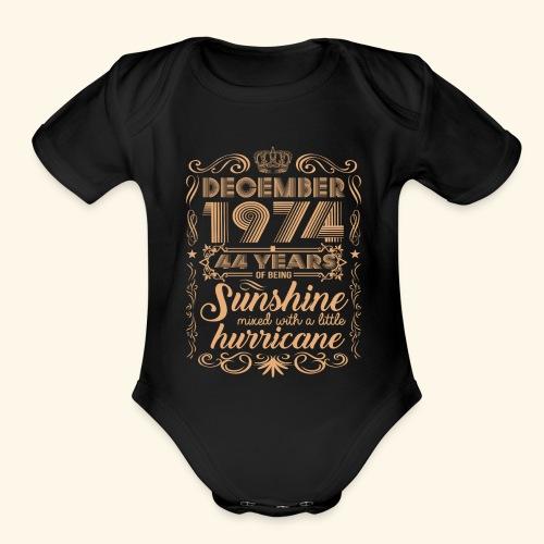 December 1992 26 Years Of Being Sunshine Hurricane - Organic Short Sleeve Baby Bodysuit