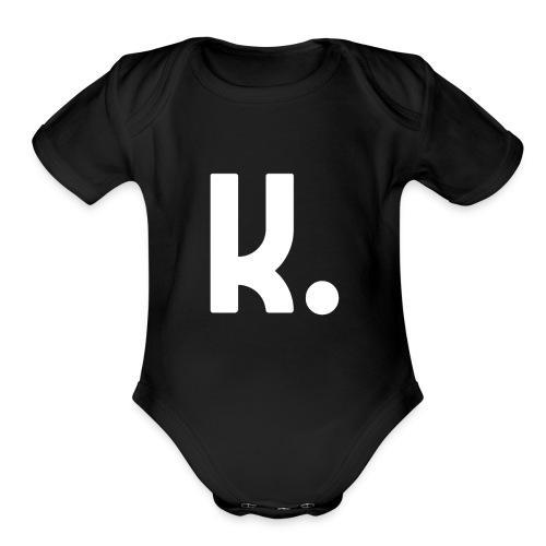 K Dot Period Simple Letter K Design English - Organic Short Sleeve Baby Bodysuit