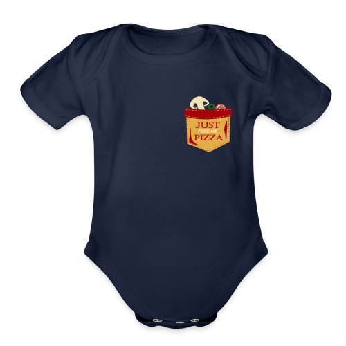 Just feed me pizza - Organic Short Sleeve Baby Bodysuit