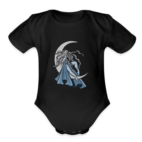 Moon Goddess - Organic Short Sleeve Baby Bodysuit