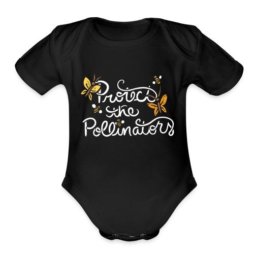 Protect the pollinators - Organic Short Sleeve Baby Bodysuit