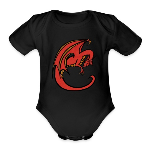 Red Dragon - Organic Short Sleeve Baby Bodysuit