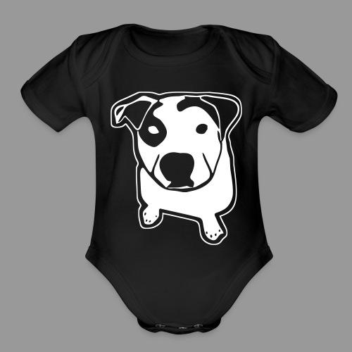 Pit Bull T-Bone - Organic Short Sleeve Baby Bodysuit