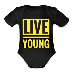 Live Young - Short Sleeve Baby Bodysuit