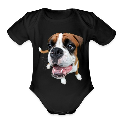 Boxer Rex the dog - Organic Short Sleeve Baby Bodysuit