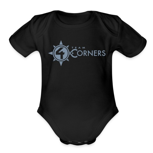 Team 4 Corners 2018 logo - Organic Short Sleeve Baby Bodysuit