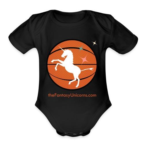 whiteunicornlogoversion2 01text - Organic Short Sleeve Baby Bodysuit