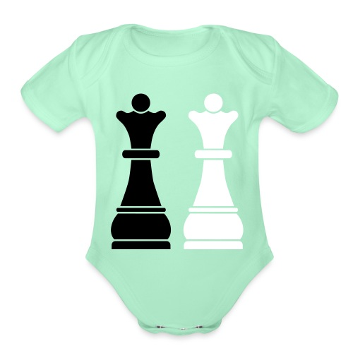 Chess Queens - Organic Short Sleeve Baby Bodysuit