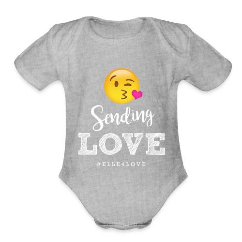 Sending Love - Organic Short Sleeve Baby Bodysuit