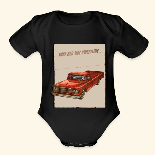 Old Trucks - Organic Short Sleeve Baby Bodysuit