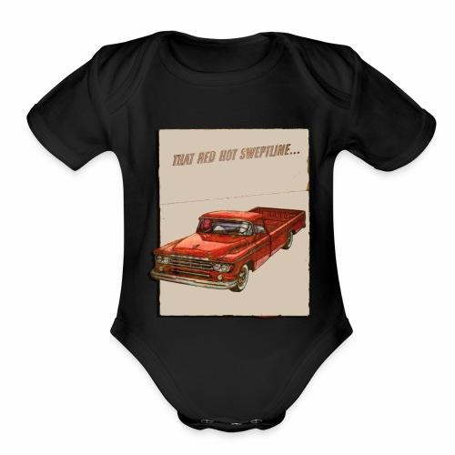 Old Trucks - Organic Short Sleeve Baby Bodysuit